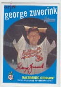 2008 Topps Heritage Real One Autographs Red Ink #GZ George Zuverink