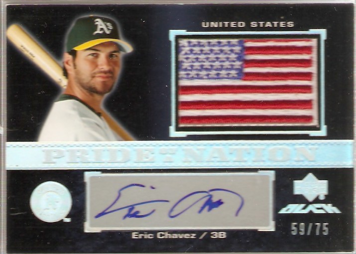2007 UD Black Pride of a Nation Autographs #EC Eric Chavez