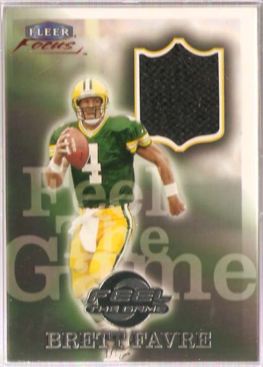 1999 Fleer Focus Feel the Game #3FG Brett Favre Shoe