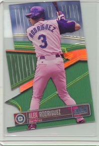 1999 Stadium Club Baseball ALEX RODRIGUEZ Triumvirate Luminous Illuminator BEAUTIFUL!!.