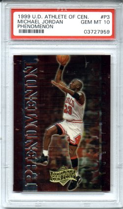 1999 Upper Deck Athlete of the Century Michael Jordan PSA Gem Mint 10 Phenomenon