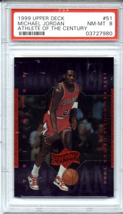 1999 Upper Deck Athlete of the Century #51 Michael Jordan PSA NM-MT 8 NICE!!!