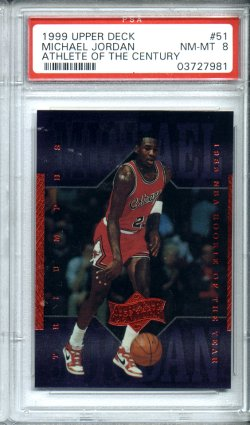 1999 Upper Deck Athlete of the Century #51 Michael Jordan PSA NM-MT 8 NICE!!