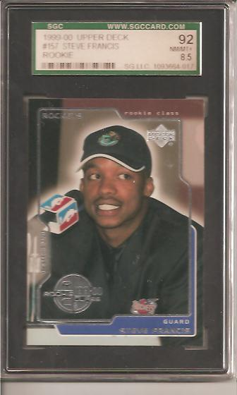 1999-00 Upper Deck #157 Steve Francis RC