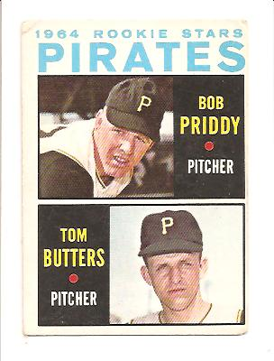 1964 Topps #74 Rookie Stars/Bob Priddy RC/Tom Butters