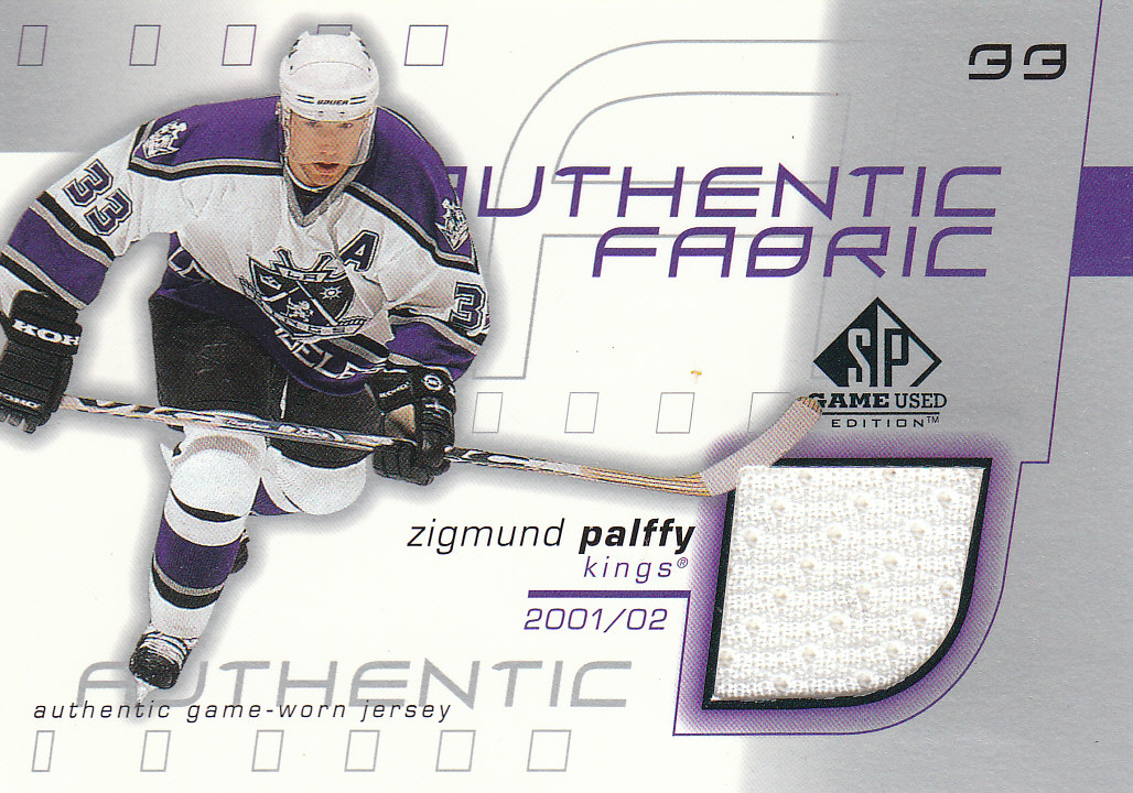 2001-02 SP Game Used Authentic Fabric #AFZP Zigmund Palffy