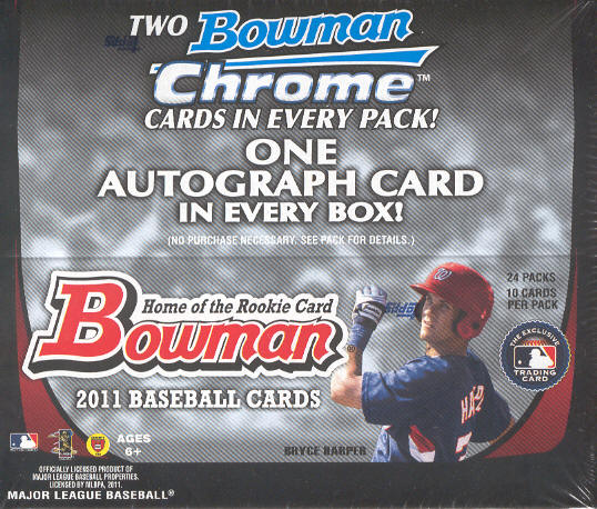 2011 Bowman MLB Baseball Trading Cards Retail Box