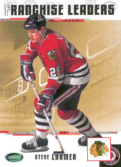 2003-04 Parkhurst Original Six Chicago #100 Steve Larmer