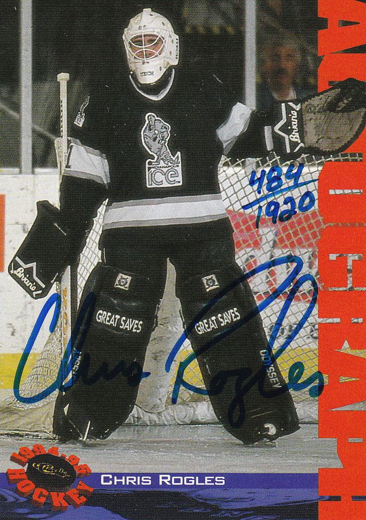 1994 Classic Autographs #NNO Chris Rogles/1920