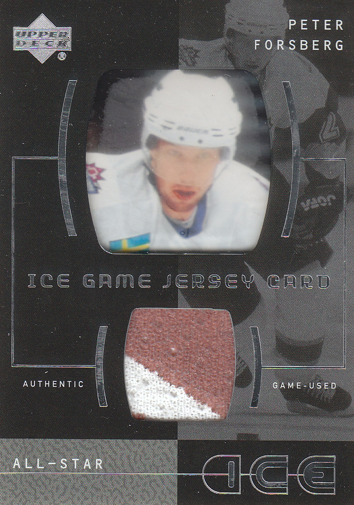2000-01 Upper Deck Ice Game Jerseys #IFO Peter Forsberg Upd