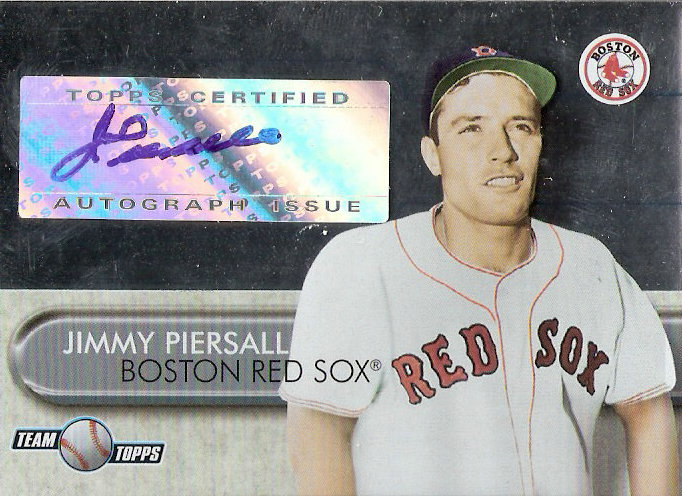 2006 Topps Team Topps Autographs #JP1 Jimmy Piersall