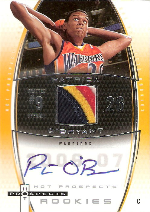 2006-07 Fleer Hot Prospects #68 Patrick O'Bryant JSY AU RC