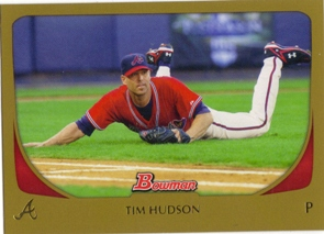 2011 Bowman Gold #72 Tim Hudson
