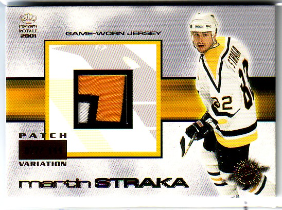 2000-01 Crown Royale Game-Worn Jersey Patches #23 Martin Straka/144