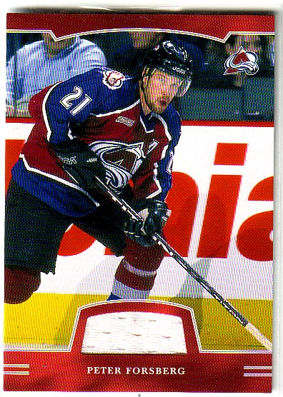 2002-03 BAP First Edition Jerseys #144 Peter Forsberg