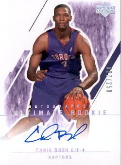 2003-04 Ultimate Collection #130 Chris Bosh AU RC