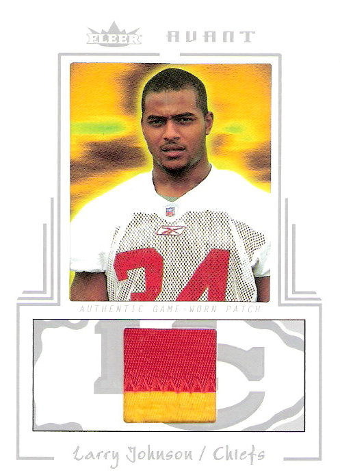 2003 Fleer Avant Materials Patches #18 Larry Johnson