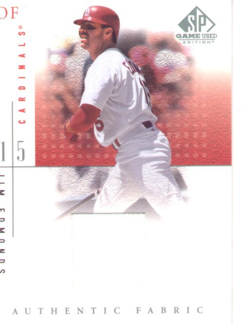 2001 SP Gamed Used Edition Jersey #JE, Jim Edmonds, mint , $40.00
