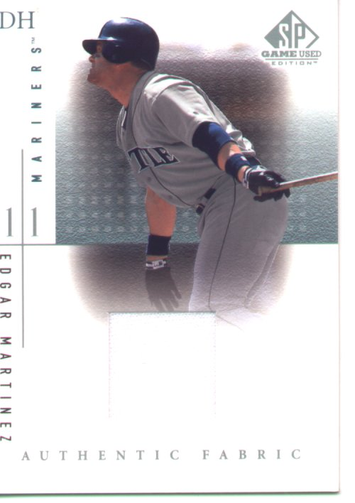2001 SP Game Used Edition Jersey #Edgar Martinez, mint , $35.00