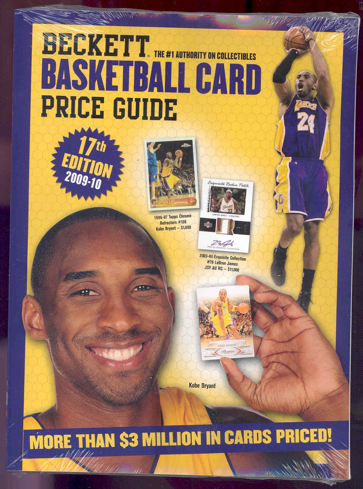 2009-10 17th Edition Basketball Annnual Price Guide Kobe Bryant Cover Price $29.95