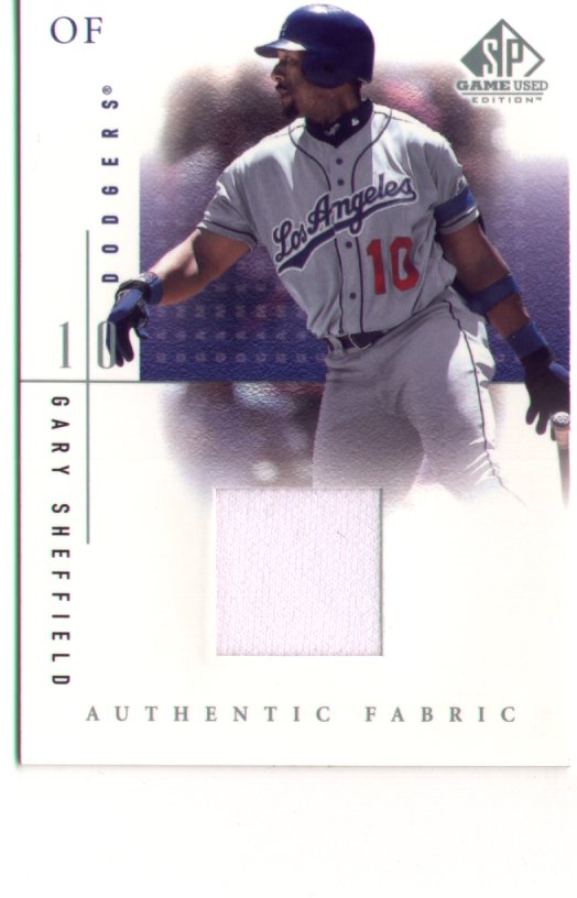Gary Shefield, 2001 SP Game Used Edition Jersey #GS, mint, $25.00