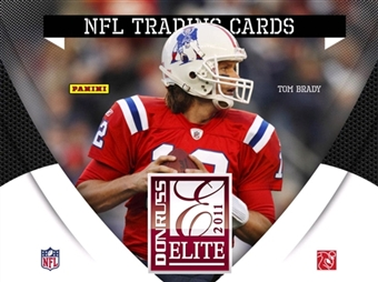 2011 Panini Donruss Elite Football Factory Sealed HOBBY Box - 4 Autograph ( Possible Joe Montana AJ Green Cam Newton ) Or Memorabilia Cards & 4 Rookies Per Box - In Stock Now    front image
