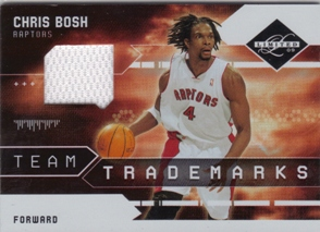 2009-10 Limited Team Trademarks Materials #4 Chris Bosh/99