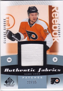 2010-11 SP Game Used Authentic Fabrics Patches #AFCG Claude Giroux