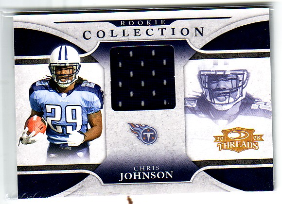 2008 Donruss Threads Rookie Collection Materials #10 Chris Johnson