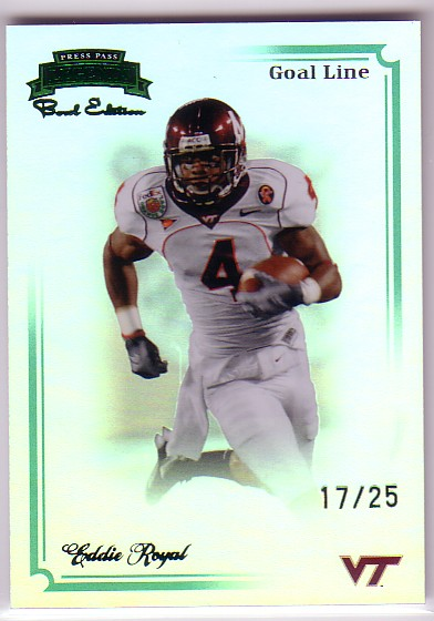 2008 Press Pass Legends Bowl Edition Goal Line Emerald #96 Eddie Royal