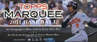 2 BOX LOT : 2011 Topps MARQUEE Baseball Factory Sealed HOBBY Series Box - 2 AUTOGRAPHS & 2 Relics Per Box - In Stock