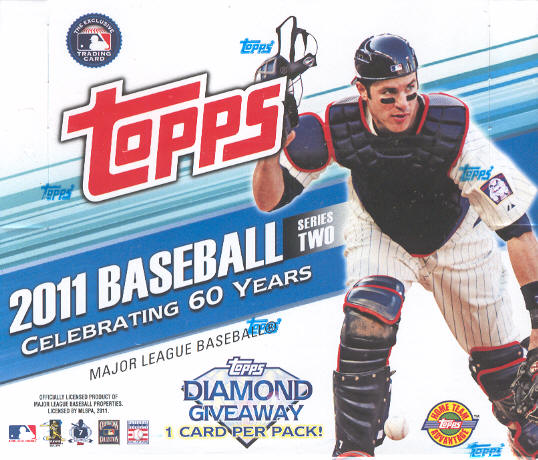2011 Topps Series 2 MLB Baseball Trading Cards Jumbo Box