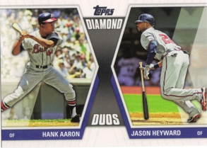 2011 Topps Diamond Duos Series 2 #DD29 Hank Aaron/Jason Heyward