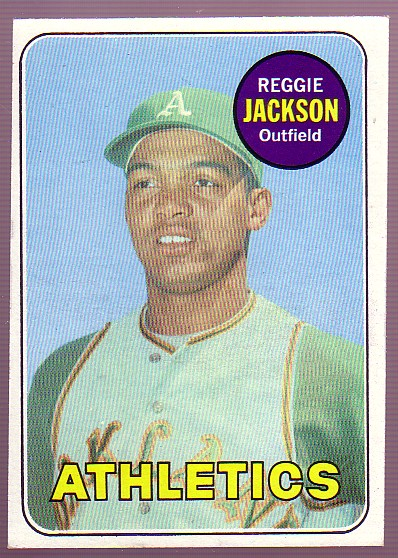 1969 Topps #260 Reggie Jackson RC