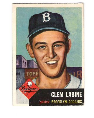 1953 Topps #14 Clem Labine DP