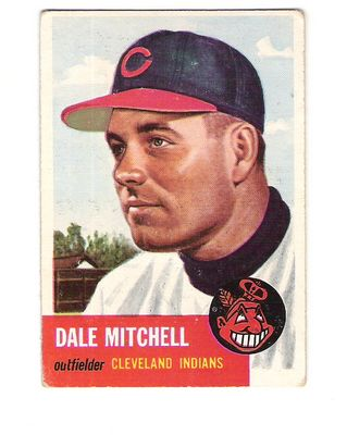 1953 Topps #26 Dale Mitchell DP front image