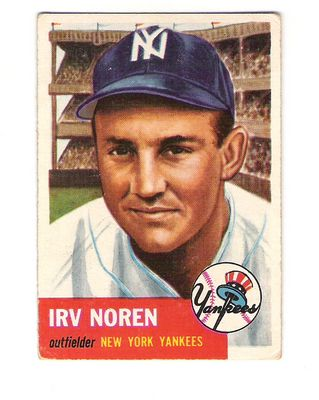 1953 Topps #35 Irv Noren DP