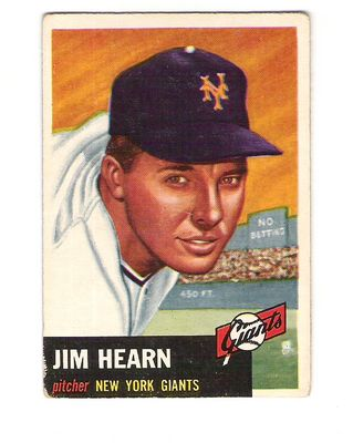1953 Topps #38 Jim Hearn DP