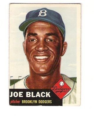 1953 Topps #81 Joe Black SP front image