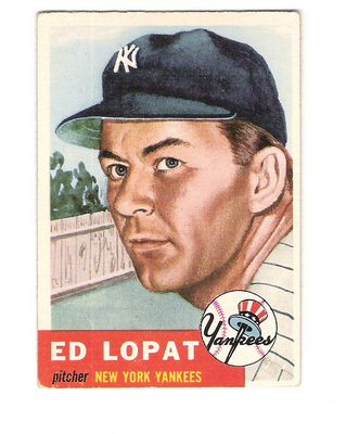 1953 Topps #87 Ed Lopat
