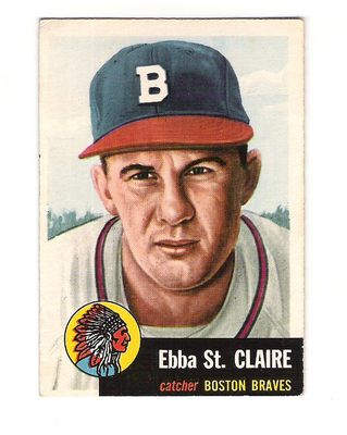 1953 Topps #91 Ebba St.Claire DP
