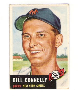 1953 Topps #126 Bill Connelly DP RC