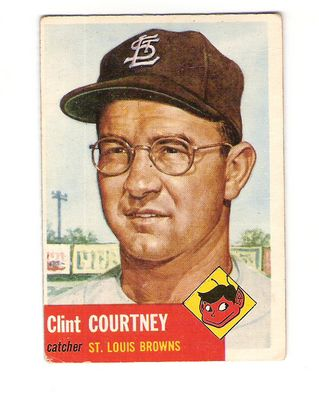 1953 Topps #127 Clint Courtney DP RC front image