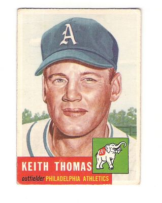1953 Topps #129 Keith Thomas RC front image