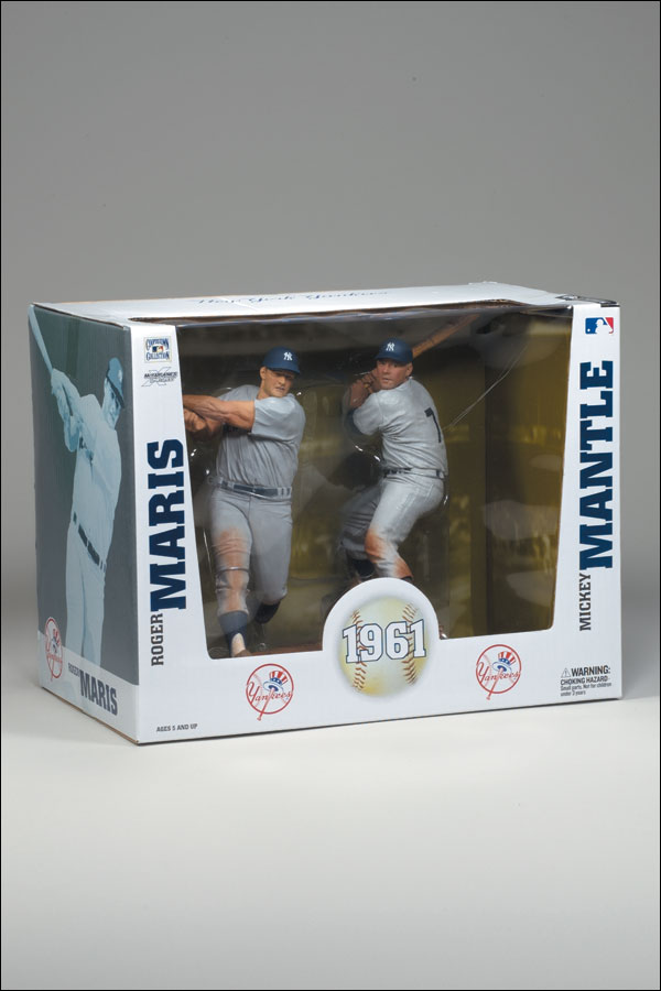 2008 McFarlane Baseball 2-Pack #10 Mickey Mantle/Roger Maris