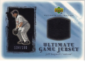 2001 Ultimate Collection Game Jersey #UJB Jeff Bagwell
