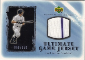 2001 Ultimate Collection Game Jersey #UTH Todd Helton