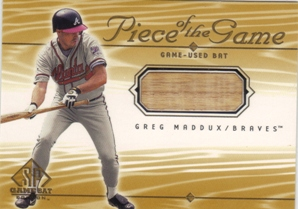 2001 SP Game Bat Edition Piece of the Game #GM Greg Maddux