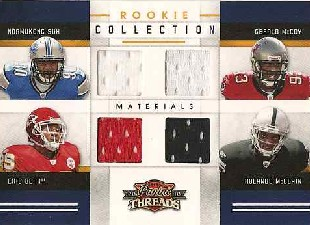 2010 Panini Threads Rookie Collection Materials Quad #5 Ndamukong Suh/Gerald McCoy/Eric Berry/Rolando McClain