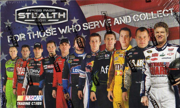 2011 Press Pass Stealth Hobby Racing Sealed Box of 24 Packs - One Autograph & One Memorabilia Card Per Box